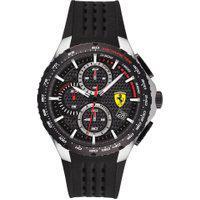 Relógio Scuderia Ferrari Masculino Borracha Preta - 830732