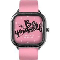 Relógio Bewatchoficial Beyourself Pulseira Couro Rosa