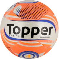 e0af2635d6 Bola Society Topper Champion N4 - Branco Coral
