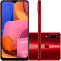 Smartphone Samsung Galaxy A20S 32Gb A207 Desbloqueado Vermelho
