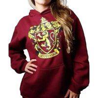 Blusa Moletom Harry Potter Gryffindor Grifinoria Feminino Roxo
