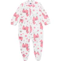 Pijama Tip Top Longo Menina Lhama Branco