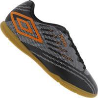 Chuteira Futsal Umbro Speed Iv Ic - Adulto - Preto/Laranja