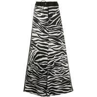 Sacai Calça Pantalona Com Estampa De Zebra - Preto