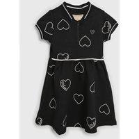 Vestido Milon Infantil Coração Preto