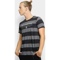 Camiseta Billabong Original Stripe Masculina - Masculino-Preto+Cinza