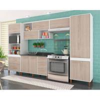 Cozinha Completa Castanha 10 Pt 5 Gv Branco E Teka