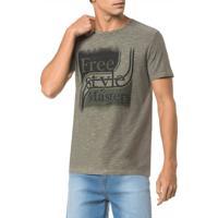 Camiseta Ckj Mc Est Free Style - Oliva - Pp