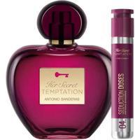 Kit Perfume Feminino 80Ml Edt + Perfume Feminino Dose 30Ml Antonio Banderas Her Secret Temptation - Feminino-Incolor