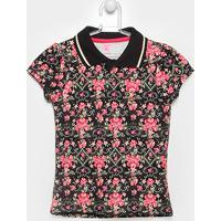 Camisa Polo Infantil Lilica Ripilica Estampada Feminina - Feminino