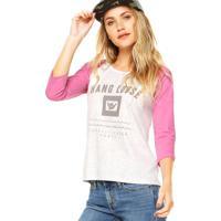 Blusa Hang Loose Haglan Color Cinza/Rosa