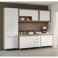 Cozinha Compacta Karinna 12 Pt 3 Gv Argila E Branco