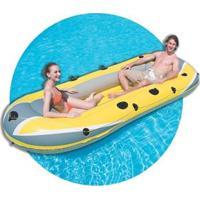 Bote Inflável Deltamax Hydro Force Raft Para 3 Pessoas 3,07X1,26 - Amarelo/Cinza
