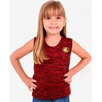 Regata Esporte Legal Plank Infantil - Feminino-Vermelho+Preto
