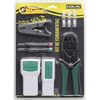 Kit Ferramentas Rede Lan Alicate Crimpar Rj45 Desencapador Cortador Testador Chaves