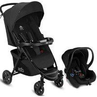Carrinho De Bebê Com Bebê Conforto Preto Até 22Kg - Cbx Woya