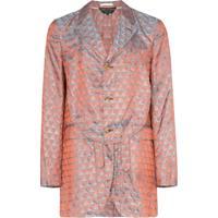 Comme Des Garçons Homme Plus Blazer Jacquard Com Vazado - Multicoloured