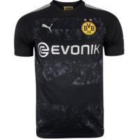 Camisa Borussia Dortmund Ii 19/20 Puma - Masculina - Preto