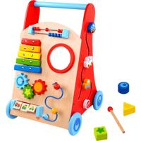 Andador Baby Tooky Toy Carrinho Multifunção Bege/Vermelho - Kanui