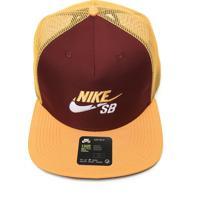 Boné Nike Sb Sb Trucker Amarelo/Vinho