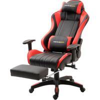 Cadeira Office Xsx Em Courino Preto E Vermelho - 38666 - Sun House