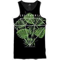 Camiseta Bsc Regata Diamond Summer Full Print - Masculino-Preto