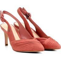 8c9580f24 ... Scarpin Couro Capodarte Salto Alto Chanel Feminino - Feminino-Rosa