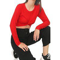 Blusa Cropped Coca-Cola Jeans Torção Vermelha