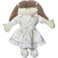 Boneca Dani Quarto Bebê Infantil Menina Potinho De Mel Rosa - Kanui