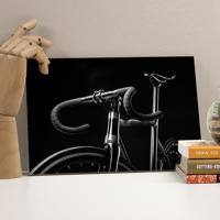 Placa Decorativa - Black Bike
