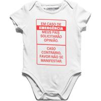 Opinião, Só Em Caso De Emergência - Body Infantil