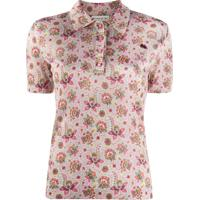 Etro Floral Short Sleeve Polo Top - Neutro
