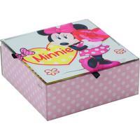 Porta Joias Minnieâ® Poã¡- Rosa Claro & Branco- 6X15X1Mabruk