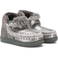 Mou Kids Ankle Boot Eskimo - Prateado