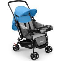 Carrinho De Bebê Berço Com Bandeja Nap Weego Azul - 4012 - Padrão