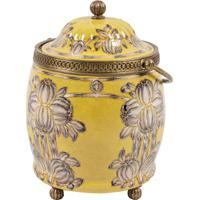 Vaso Decorativo De Porcelana Yellow