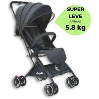 Carrinho De Bebê Burigotto Leve Compacto Pequeno Prático Preto