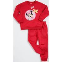 Conjunto Infantil Moletom Estampa Minnie Disney