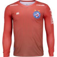 Camisa De Goleiro Do Bahia Manga Longa 2020 Esquadrão - Masculina - Vermelho