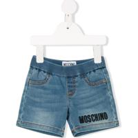 Moschino Kids Short Teddy Bear - Azul