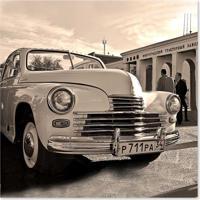 Quadro Carro Uniart Preto & Branco 30X30Cm