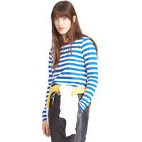 Camiseta Polo Ralph Lauren Reta Stripes Azul/Branca