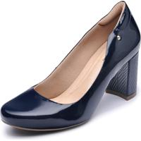 Sapato Neftali Comfort Clássico Verniz Marinho