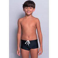 Sunga Juvenil Serra E Mar Modas Box Short Lisa Preto