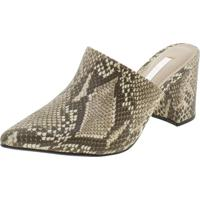 Sapato Feminino Mule Via Marte - 197501 Café/Bege