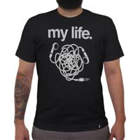My Life Headphone - Camiseta Clássica Masculina