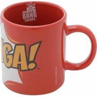 Mini Caneca De Porcelana Big Bang Theory Bazinga Vermelho 140 Ml