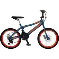 Bicicleta Infantil De Passeio Aro 20 Freio A Disco 21 Marchas Skyll Boy Quadro 12 Aço Azul - Colli Bike - Tricae