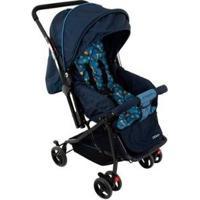 Carrinho De Bebê Passeio Cosco Happy Reclinável - Unissex-Azul
