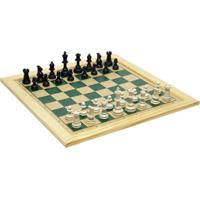 Jogo De Xadrez Tabuleiro 39X39 Com Moldura - Kanui